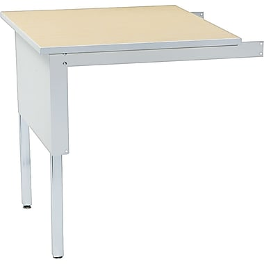 Mayline Kwik-File Mailflow-to-Go™ 30 x 30 Corner Table, Gray