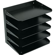 SteelMaster® Letter-Size Metal Horizontal Organizer, 5 Tiers