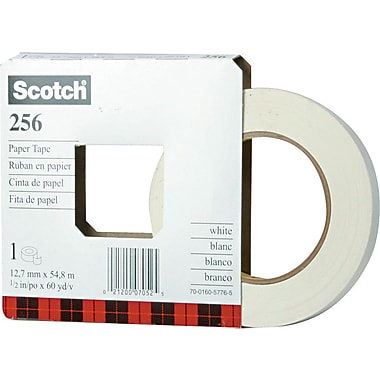Scotch White Paper Tape, 1/2in. x 60 yds.