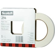 "Scotch® White Paper Tape, 1/2"" x 60 yds."