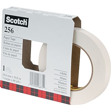Scotch White Paper Tape, 3/4in. x 60 yds.