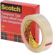 "Scotch® Transparent Tape 600, 1"" x 72 yds, 3"" Core"