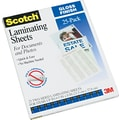 Scotch Letter Size Self-Adhesive Laminating Pouches, 9.5 mil. 25 pack