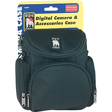Ape Case ® 200 Series Nylon Camera Case, 7 1/4in.(H) x 7 1/8in.(W) x 4 1/8in.(D), Black