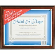 "NuDell™ Economical Award Plaque, Walnut, 8-1/2"" x 11"""