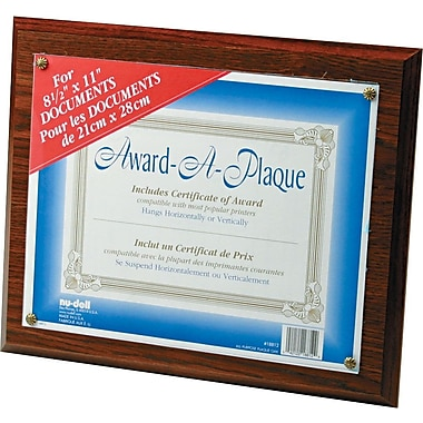 Nu-Dell Award-A-Plaques, Oak