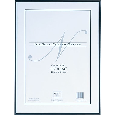 Nu-Dell Metal Poster Frame, 18in. x 24in., Black