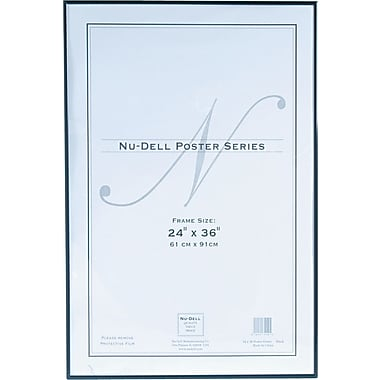 Nu-Dell Metal Poster Frame, 24in.x 36in., Black