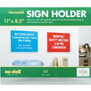 "NuDell™ Landscape Wall Mount Sign Holder, Clear, 8-1/2"" x 11"""