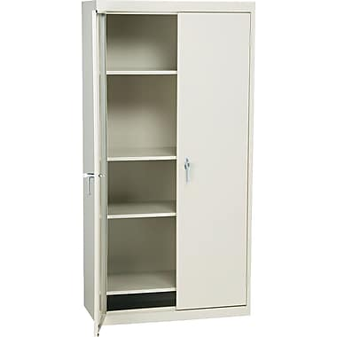 Alera Economy-Grade, 4 Shelf Easy to Assemble Storage Cabinet, 72in.H x 36in.W x 18in., Putty