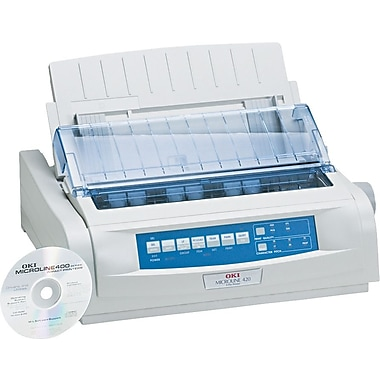 OKI® ML420 OKI®62418701 Black and White Dot-Matrix Printer