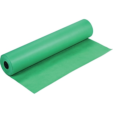 Pacon Rainbow Economy Duo-Finish Kraft Paper, 36in.W x 1000'L, Bright Green