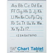 Chart Tablet Writing Paper, Manuscript, 1-1/2 Ruled, 24 x 32