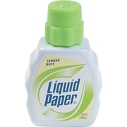 Liquid Paper® Correction Fluid, Ledger Buff (Yellow), Each