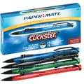 Paper Mate Clickster® Mechanical Pencils, 0.5mm, Assorted Barrels, Dozen
