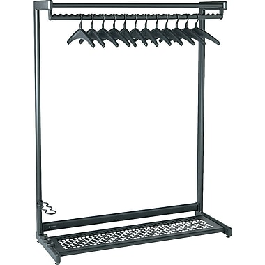 Quartet 48in. Black 2-Shelf Garment Rack