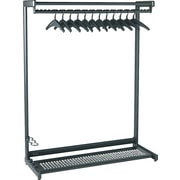 Quartet 48 Black 2-Shelf Garment Rack