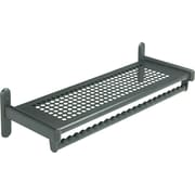 Quartet 36 Black 1-Shelf Wall Rack