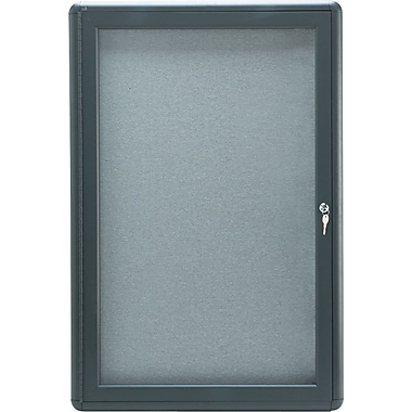Quartet® 2' x 3' Enclosed Fabric Bulletin Boards with Graphite Frame