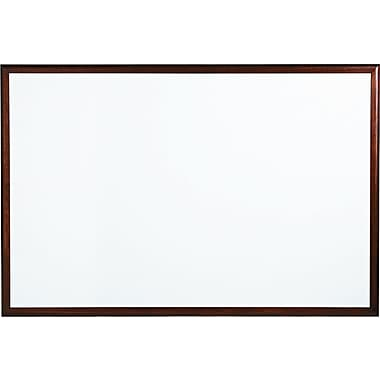 Quartet® DuraMax® Porcelain Dry-Erase Boards with Mahogany Frame, 6' x 4'