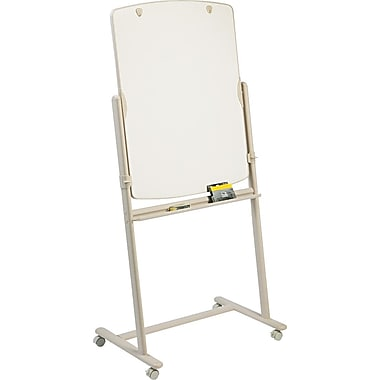 Quartet® 30in. x 41in. Reversible Total Erase® Mobile Dry-Erase Easel with Putty Finish