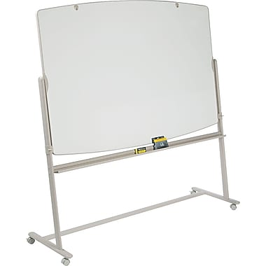 Quartet® 48in. x 72in. Reversible Total Erase® Mobile Dry-Erase Easel with Putty Finish