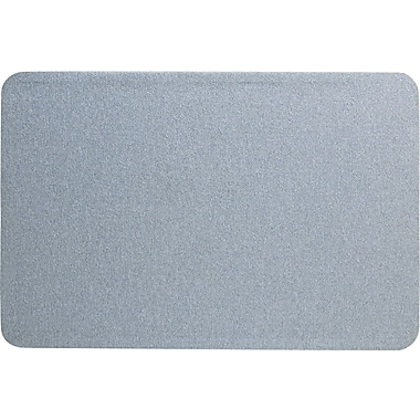 Quartet® 3' x 2' Gray Oval Office™ Fabric Bulletin Board