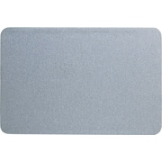 Staples Fabric Bulletin Board, Gray Fabric, 4'W x 3'H