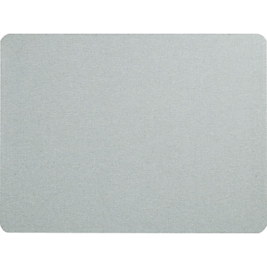 Quartet® 4' x 3' Gray Oval Office™ Fabric Bulletin Board