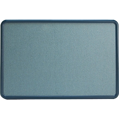 Quartet® 3' x 2' Contour® Light Blue Fabric Bulletin Board with Navy Plastic Frame