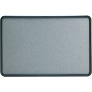 Quartet® 3' x 2' Contour® Gray Fabric Bulletin Board with Graphite Plastic Frame