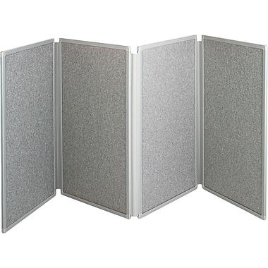 Quartet® 4-Panel Tabletop Display, Light Grey
