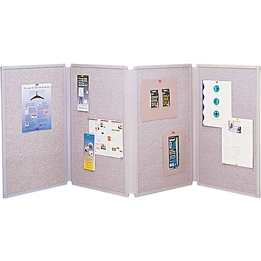 Quartet® 72in. X 30in. Tabletop Fabric Display Board