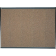 Quartet® 4' x 3' Prestige® Colored Cork Bulletin Board with Graphite Frame