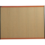 Quartet® 47 x 35 Prestige® Colored Cork Bulletin Board with Light Cherry Finish Frames