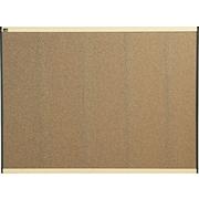 Quartet® Prestige® Colored Cork Bulletin Board, Maple Finish Frame, 4'W x 3'H