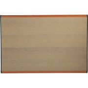 "Quartet® 71.25"" x 48"" Prestige® Colored Cork Bulletin Board with Light Cherry Finish Frames"