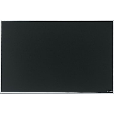 Quartet® Matrix™ Black Bulletin Board, Aluminum Frame, 34