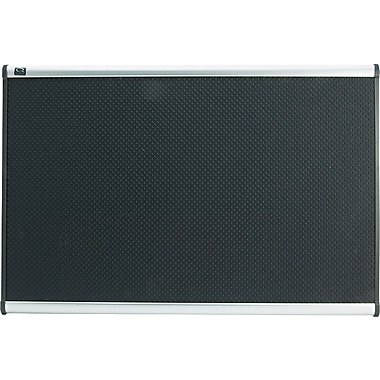 Quartet® 3' x 2' Prestige® Black Embossed Foam Bulletin Board with Aluminum Frames