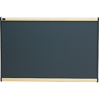 Quartet® Prestige® Gray Diamond Mesh Fabric Bulletin Board with Maple Finish Frames