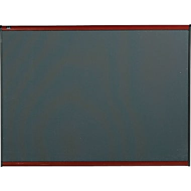 Quartet® 4' x 3' Prestige® Gray Diamond Mesh Fabric Bulletin Board with Mahogany Finish Frame