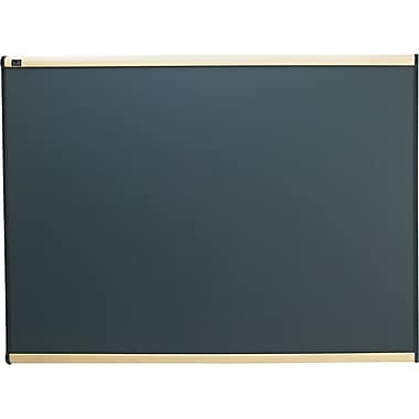 Quartet® 4' x 3' Prestige® Gray Diamond Mesh Fabric Bulletin Board with Maple Finish Frame
