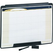 "Quartet® Motion™ Cubicle Calendar Whiteboard, One Month Design, Black Frame, 24""W x 18""H"