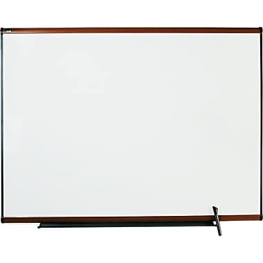Quartet® Prestige® Total Erase® Dry-Erase Board with Light Cherry Finish Frame, 4' x 3'