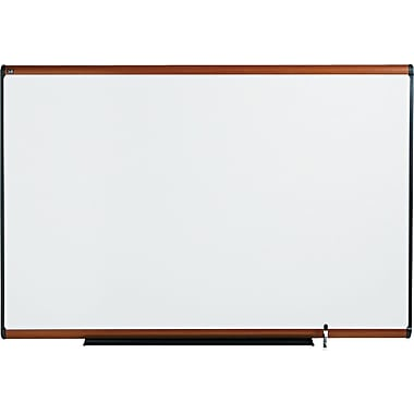Quartet® Prestige® Total Erase® Dry-Erase Board with Light Cherry Finish Frame, 6' x 4'