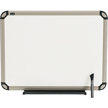 Quartet® Euro™ Prestige® Total Erase® Dry-Erase Board with Titanium Finish Frame, 2' x 1-1/2'