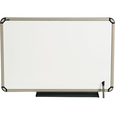 Quartet® Euro™ Prestige® Total Erase® Dry-Erase Board with Titanium Finish Frame, 3' x 2'