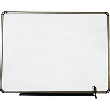 Quartet® Euro™ Prestige® Total Erase® Dry-Erase Boards with Titanium Finish Frame, 4' x 3'