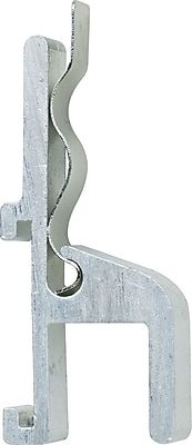 Quartet Map Hooks with Clips Silver Aluminum 1 H