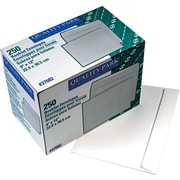 "Quality Park Gummed Open Side Booklet Envelopes, 9"" x 12"", White, 250/Bx"